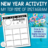 New Year Activity for Students - Instagram My Top Nine