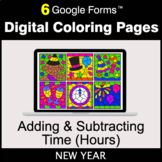 New Year: Adding & Subtracting Time (Hours) - Digital Colo