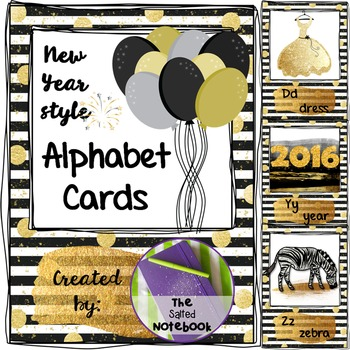 New Year Alphabet Cards