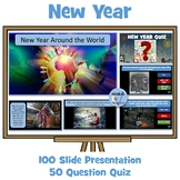 New Year Around the World Presentation and New Year Quiz