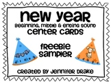 New Year Beginning, Middle & Ending Sound Center Cards ~FREEBIE SAMPLER~