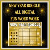 New Year Boggle - Printable and Digital for Google Classroom