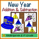 New Year  Build 2 Addend 0-20 Addition & Subtraction Number Sentence