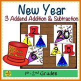 New Year Build 3 Addend Addition & Subtraction Number Sentences