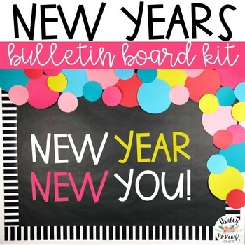 New Years Bulletin Board or Door Kit - 2018 Resolutions ...