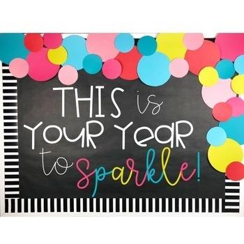 New Years Bulletin Board or Door Kit - 2018 Resolutions ...