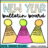 New Year Bulletin Board with Digital Goal-Setting