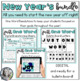 New Year Bundle Math Escape Activity, Just One Word Resolution, Discussion Start