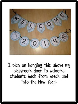 New Year Bunting Banner Freebie