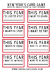 New Year Card Game