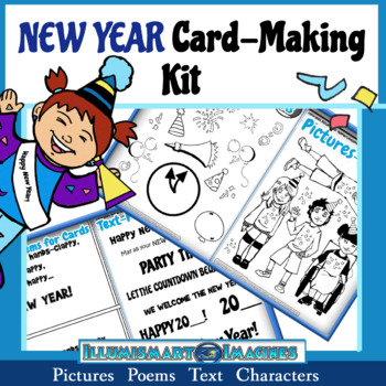 new year card making kit poems pictures text characters