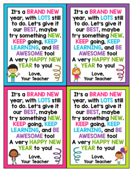 New Year Cards for Students - Editable in color & black and white!