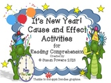 New Year Cause and Effect Centers Activities for Reading Comprehension