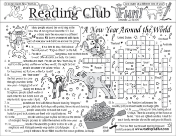 New Year Celebrations Around the World (Traditions) Two-Page Activity Set
