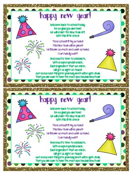 New Year Cheer Mix {Fun Poem} {Cheer} and {Bag Toppers}