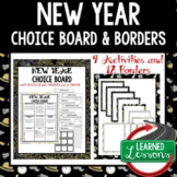 New Year Activities, Choice Board with Borders by Learned Lessons