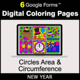 New Year: Circles Area & Circumference - Google Forms | Di