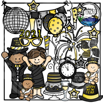 New Year Clipart Bundle