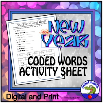 New Year Activity - Code Words