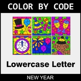 New Year: Color By Letter (Lowercase)