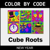 New Year Color by Code - Cube Roots