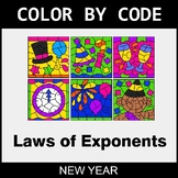 New Year Color by Code - Laws of Exponents