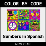 New Year Color by Code - Numbers in Spanish