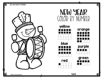 New Year Color by Number