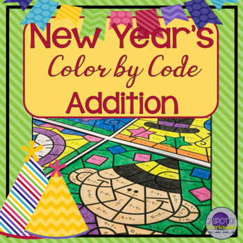 New Year Color by Number Addition