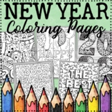 New Year Coloring Pages 2019
