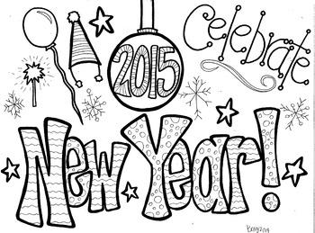 New Year Coloring Sheet