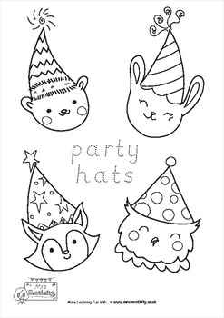 New Year Colouring Sheets