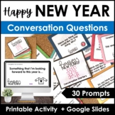 New Year Conversation Questions : Simple Present & Simple Past