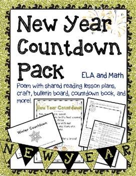New Year Countdown Kindergarten, First Grade or Pre-school