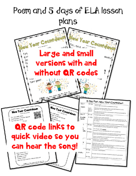 New Year Countdown Kindergarten, First Grade or Pre-school