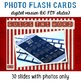 New Year's Digital Photo Flash Cards with Sample Sentences