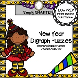 New Year Digraph Puzzles:  LOW PREP New Year's Eve Themed Digraph Puzzles