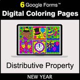 New Year: Distributive Property - Google Forms | Digital C