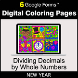 New Year: Dividing Decimals by Whole Numbers - Digital Col