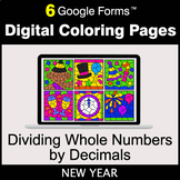 New Year: Dividing Whole Numbers by Decimals - Digital Col
