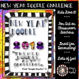 """1/2 OFF SALE! """"New Year Doodle"""" Art Contest Guidelines (Editable)"""