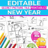 New Year EDITABLE Secret Picture Tile Printables