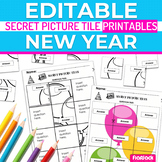 New Year EDITABLE Secret Picture Tile Printables