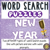 New Year's Activities Word Search Puzzles