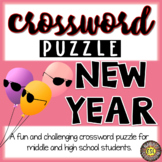 New Year's Activities Crossword Puzzle