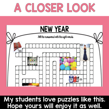 New Year's Activities Crossword Puzzle