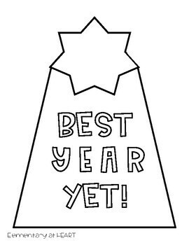 New Year Editable Cards for Students
