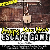 Escape Game New Year Activities Break Out Lock Box