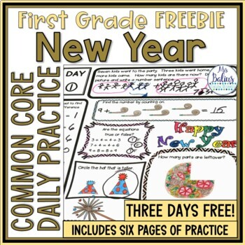 New Year 2018 FREEBIE Common Core Fun Aligned by Mrs Balius | TpT