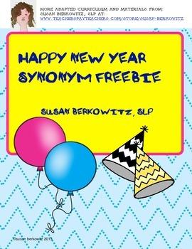 New Year FREEBIE Synonyms K-2